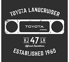 Toyota 40 Series Landcruiser HJ47 Square Bezel Est. 1960 Photographic Print