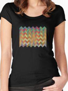 Chevron On Stilts Women's Fitted Scoop T-Shirt