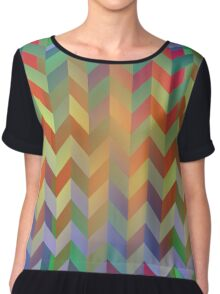 Chevron On Stilts Chiffon Top