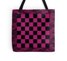 Checker Board On-the-Go! Pink Tote Bag Tote Bag