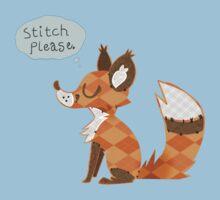 """Stitch Please"" -- Red Fox Patchwork Line Kids Tee"