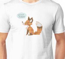"""""""Stitch Please"""" -- Red Fox Patchwork Line Unisex T-Shirt"""