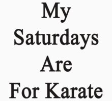 My Saturdays Are For Karate  by supernova23