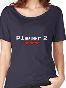Player 2 couple's logo - Black background Women's Relaxed Fit T-Shirt