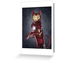 Iron Cat Greeting Card