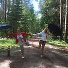 Singing in the sunshine under our umberellas  by ALIANATOR