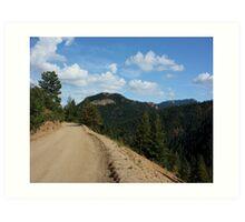 Old Gold Camp Road, Colorado Springs, Colorado (USA) Art Print