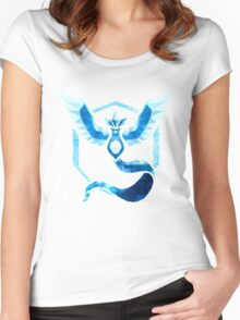 Team Mystic Low Poly Women's Fitted Scoop T-Shirt