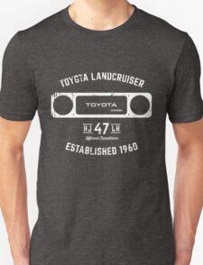 Toyota 40 Series Landcruiser HJ47 Square Bezel Est. 1960 Unisex T-Shirt