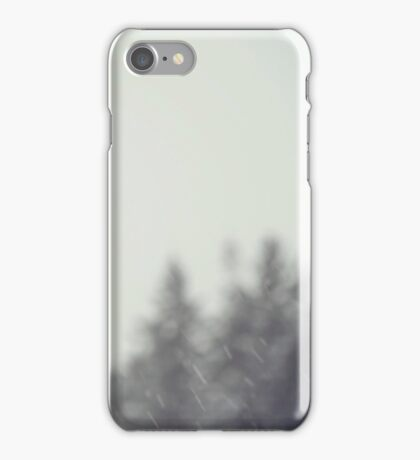 Snow Day, Winter Trees iPhone Case/Skin