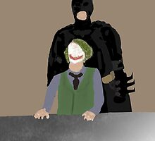 Minimalistic Dark Knight Interrogation by Firefang320