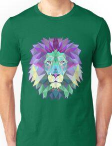 Geometric Pink Pastel Lion Unisex T-Shirt