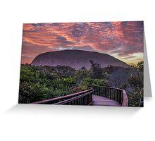 Sunset Mount Coolum Greeting Card