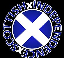 Scottish Independence Saltire Badge by Sookiesooker