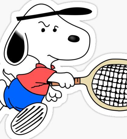 Arcade Classic - Snoopy Tennis Sticker