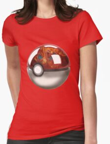 Pokeball Crystal Ball - Charizard Womens Fitted T-Shirt