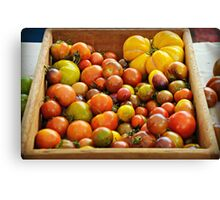 Market Tomatoes Canvas Print