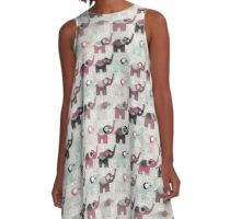 Baby Elephant Walk - Bohemian Style by Chocolate River Brand A-Line Dress