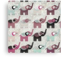 Baby Elephant Walk - Bohemian Style by Chocolate River Brand Canvas Print