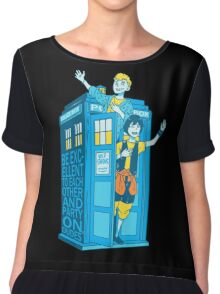 Most Excellent Time Travellers Chiffon Top