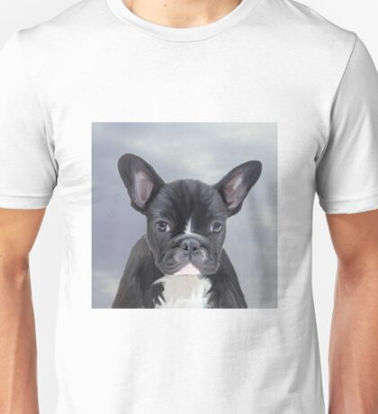 Cute French Bulldog Water Color Art Painting Unisex T-Shirt