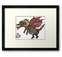 Game of cats and thrones Framed Print