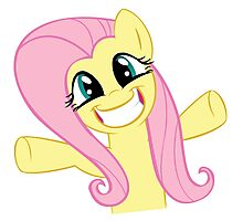 Hugs for Fluttershy Photographic Print