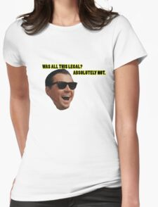 Wolf of Wallstreet: Absolutely Not Womens Fitted T-Shirt
