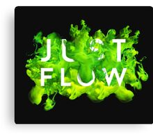 JUST FLOW (Green) Canvas Print