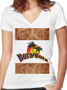 Bora Bora Women's Fitted V-Neck T-Shirt