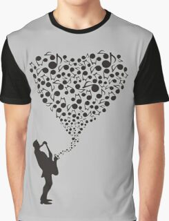 """Sax"" Your Heart Graphic T-Shirt"