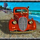 Fire Truck on the Beach by GolemAura