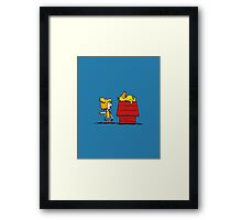 Psyduck and Misty peanuts Framed Print