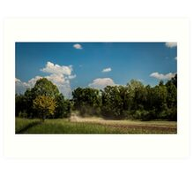 Fields of Italy in a spring day Art Print