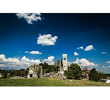 ancient and ruined castle in the italian countryside Photographic Print