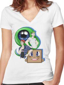 E P I C   B R O S Women's Fitted V-Neck T-Shirt