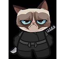 Grumpy Ninja Cat Photographic Print