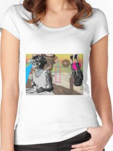can't see people hurt Women's Fitted Scoop T-Shirt