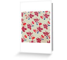 Old pattern with flowers Greeting Card