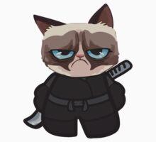Grumpy Ninja Cat Kids Tee