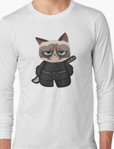 Grumpy Ninja Cat Long Sleeve T-Shirt