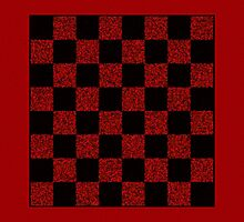Checkers Board on a Tote Bag - Play Checkers On the Go! by starcloudsky