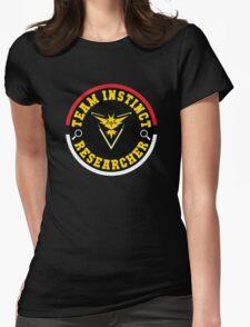Pokémon Go - Team Instinct Researcher Womens Fitted T-Shirt