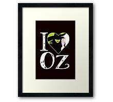 I Love Oz. Wicked. Framed Print