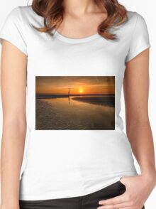 Seascape Sunset Women's Fitted Scoop T-Shirt