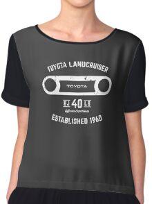Toyota 40 Series Landcruiser BJ40 Round Bezel Est. 1960 Chiffon Top
