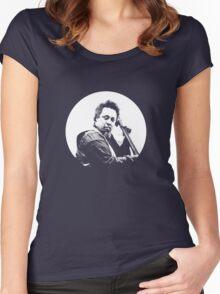mingus portrait  (for dark background) Women's Fitted Scoop T-Shirt