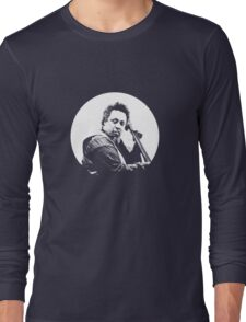 mingus portrait  (for dark background) Long Sleeve T-Shirt