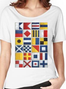 nautical flags Women's Relaxed Fit T-Shirt