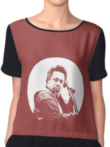 mingus portrait  (for dark background) Chiffon Top